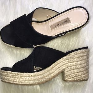 Zara Basic Platform Wedge Sandals